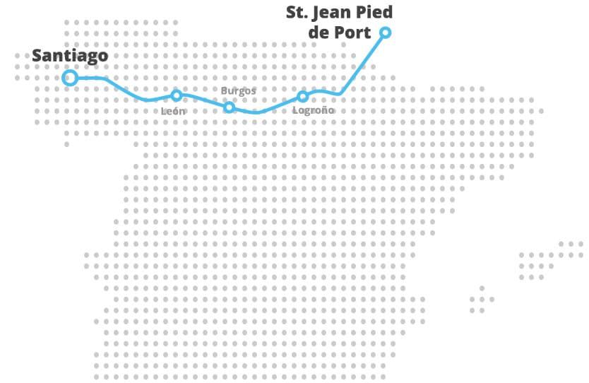 Mapa Camino Francés
