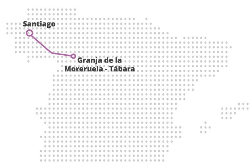 Mapa Camino Sanabrés
