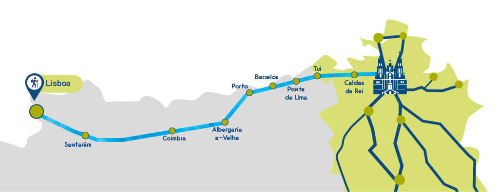 Camino French Way Map on