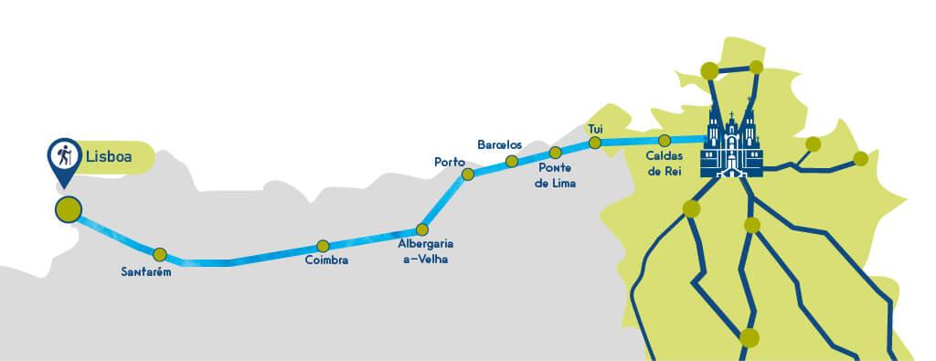 Camino De Santiago Trail Map on