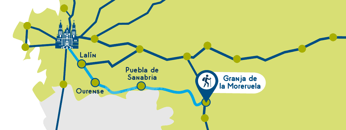 Sanabres Way Map