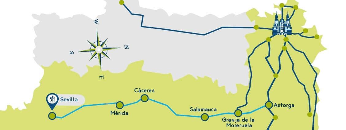 Vía De La Plata Etapas Y Mapa El Camino Por La Ruta De La Plata